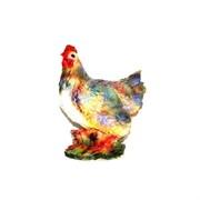 Курица на бревне 25х16х30 см