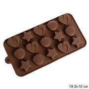 Форма для конфет и льда 15 ячеек / YH-523 /уп 12/