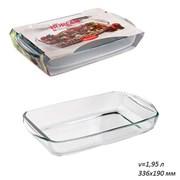 Посуда для СВЧ Borcam 59006 прямоуголная 336х190мм