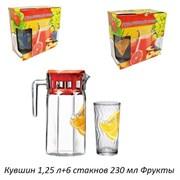 Питьевой набор 7предметов кувшин 1,25 л+6 стакан Ф