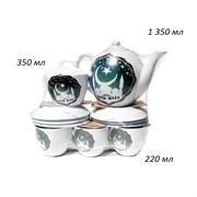 Чайный сервиз 14 предметов Мечеть (чайник 1,35 л)