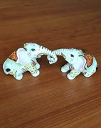 Статуэтка Два слоника фарфор 10,5х5,5х6,5 см