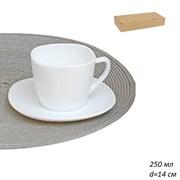 Чайный набор 12 предметов 250 мл белый FXB220 карт
