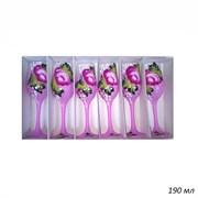 Бокал Шампань матовый Цветная роспись набор 6 штук