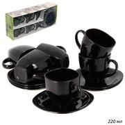 Чайный набор 12 предметов Carine Noir / Р4672