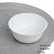 Салатник 125 мм, h=45 мм 400 мл белый  LHBW-50XN