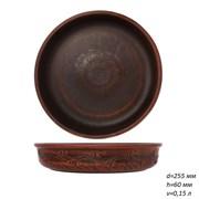 16202 Блинница красная глина 25,5х25,5х6 см /1х5/