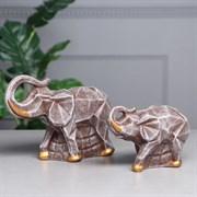 Статуэтки Пара слонов оригами камень 23х15х17 см