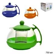 Чайник с металлическим ситом 750 мл /322-S/уп 36/