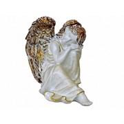 Ангел мечтатель античное золото 23 см /1х8/