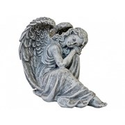 Ангел мечтатель камень серый 23 см /1х8/