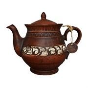 Чайник Витязь 1,4 л ангоб красная глина
