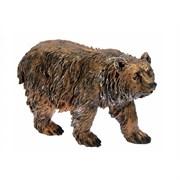 Медведь бронза полистоун 57х20х33 см