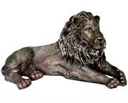Лев лежит голова вправо полистоун 65х32х32 см