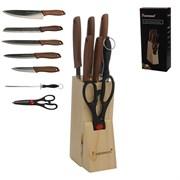 Нож кухонный 7 предметов на подставке / F008