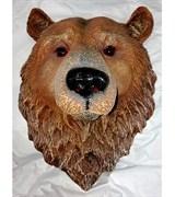 Панно Голова медведя полистоун