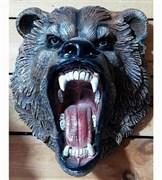 Панно Голова медведя рычит полистоун