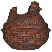 Жаровня Курица 4 л 30х19х17 см красная глина