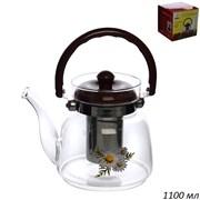 Чайник 1100 мл жаропрочное стекло 9908J3-2(1100)