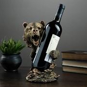 Подставка под бутылку Медведь 15х16х25 см