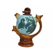 Чайник сувенир Глобус 0,75 л 16х10х20 см /1х24/
