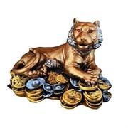 Статуэтка Тигр на монетах 24х16х18 см гипс /1х10/