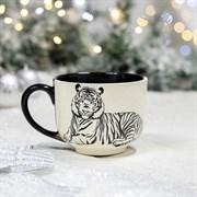 Кружка Аппетитка Тигр 0,5 л черно - белая