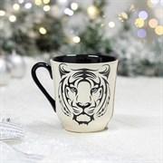 Кружка Тигр 350 мл бело - черная 12х9х10 см