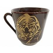 Кружка Тигр 350 мл коричневая 12х9х10 см /1х108/