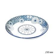 Тарелка Орнамент цветы 230 мм, h=40 мм