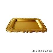 Поднос золотой 38х26,5х2,5 см
