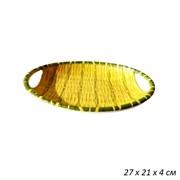 Поднос Бамбук овальный пластик 27х21х4 см