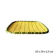 Поднос Бамбук пластик 25х19х2,5 см