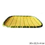 Поднос Бамбук пластик 30х22,5х4 см