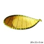 Блюдо Бамбук рыбка пластик 28х21х5 см
