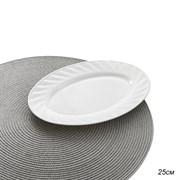 Блюдо овальное 25 см белое/уп.6/36/стеклокерамика