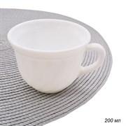 Кружка 200 мл белая/уп.6/72/стеклокер.d=85,h=50 мм