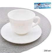 Чайный набор 12 пр.200 мл белый/уп.12/d=85,h=50 мм