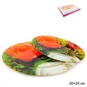 Блюдо овальное 2 предмета 30,25 см Волна 1033Х-811
