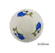 Миска №6 арт.212 Синие цветы/1х8х12/ d=15см фарфор
