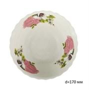 Миска №7 арт.211 Розовые цветы/1х6х12/ d=17 см