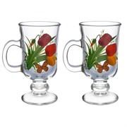 Набор кружек для глинтвейна набор 2 штуки Цветы