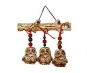 Оберег Три совы на ветке