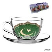 Чайный набор 4 предмета Мечеть 200 мл стекло в под