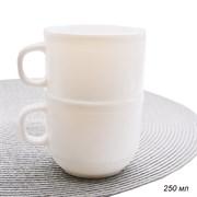 Кружка 250 мл белая /уп.6/72/стеклокерамика